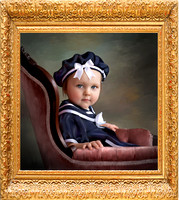 Hand-Painted Child Portrait