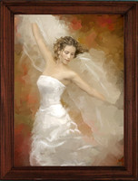 Hand-Painted Bridal Portrait