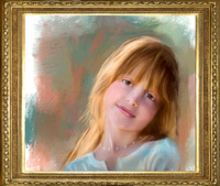 Painted Children's Portrait