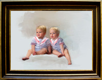Hand-Painted Children's Portrait