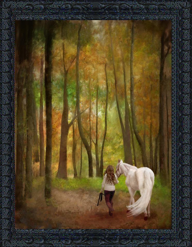 Hand-Painted Horse Portrait