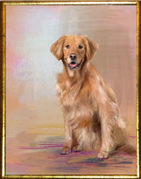 Hand-painted dog portrait by Karen Sperling based on a photo by Dogpatch Pet Portraits.